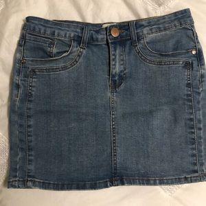 Cotton on mini jean skirt